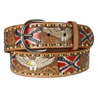 "2250 Eagle Western Embossed Belt 1.5"" or 38mm Wide -Tan"