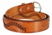 Western Basketweave Genuine Leather Belt - Tan2