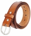 Western Basketweave Genuine Leather Belt - Tan3