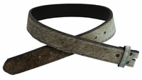 255555186 Brown and White Cattle Hair On Genuine Leather Belt Strap - 1 1/2""
