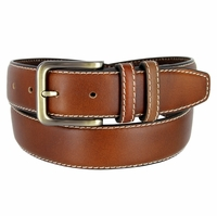 "301012 Men's Genuine Leather Dress Belt 1-3/8"" Wide"