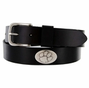 3602500 NCAA Men's Collegiate University Leather Overlay Concho Black Belt - Clemson