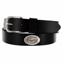 3603500 NCAA Men's Collegiate University Leather Overlay Concho Black Belt - Florida