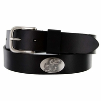 3606500 NCAA Men's Collegiate University Leather Overlay Concho Black Belt - Kansas