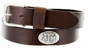 3611500 NCAA Men's Collegiate University Leather Conchos Brown Belt - Texas A&M