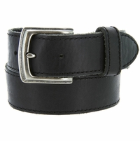 "3926051 Men's One Piece Full Leather Casual Jean Belt 1-1/2"" wide - Black"