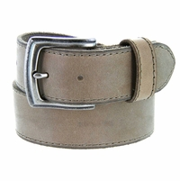 "Made In Italy Men's Full Grain Leather Casual Jean Belt 1-1/2"" wide - Taupe"