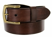 "39261304 Men's Genuine Leather Uniform Work Belt 1-1/2"" (38mm) Wide - Brown"