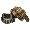 4038 Punk Belt with Three Rows Pyramid