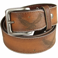 Genuine Leather Eagle Embossed Casual Belt