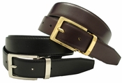 4089 Allan Men's Dress Leather Belt Reversible Belt $14.95