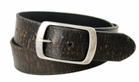 "4118 Men's Snap On Vintage Leather Belt 1 1/2"" (38 mm) -Black"