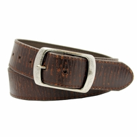 "4118 Men's Snap On Vintage Leather Belt 1 1/2"" (38 mm) -Brown"