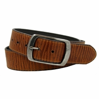 "Men's Snap On Vintage Leather Belt 1-1/2"" (38 mm) - Tan"