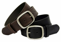 "4119 Casual Leather Belt 1 1/2"" Wide"