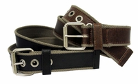 "4129 Fabric Leather Casual Jean Belt 1 1/2"" Wide"