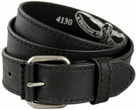 "Black Casual Leather Jean Belt 1.5"" Wide (38mm)"