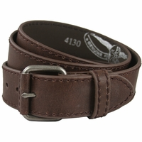"4130 Brown Casual Leather Jean Belt 1.5"" Wide (38mm)"