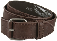 "4130 Brown Casual Leather Jean Belt 1.5"" Wide (38mm) $24.95"