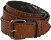 "Tan Casual Leather Jean Belt 1.5"" Wide (38mm)"