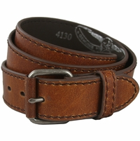 "4130 Tan Casual Leather Jean Belt 1.5"" Wide (38mm)"