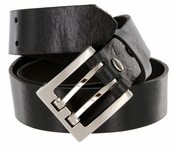 "4184 Men's One Piece Full Leather Casual Jean Belt 1-3/8"" wide Hand-Cut Made in USA"
