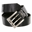 """4184 Men's One Piece Full Leather Casual Jean Belt 1-3/8"""" wide Hand-Cut Made in USA"""