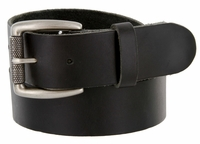 "425201 Men's One Piece Full Leather Casual Jean Belt 1-1/2"" wide"