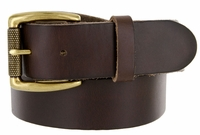 "425202 Men's One Piece Full Leather Casual Jean Belt 1-1/2"" wide"