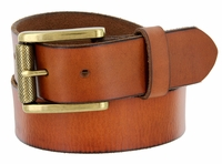 "431602 Men's One Piece Full Leather Casual Jean Belt 1-1/2"" wide"