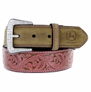 4426300 John Deere Women's Western Leather Rhinestone Buckle Belt