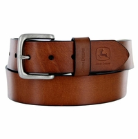 "4508500 John Deere Men's Casual Jean Leather Belt 1-1/2"" wide - Brown"