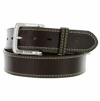 "4509500 John Deere Men's Leather Casual Jean Belt 1-1/2"" - Brown"