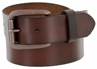"476702 Men's One Piece Full Leather Casual Jean Belt 1-1/2"" wide"