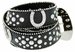 50125 Western Cowgirl Bling Horseshoe Rhinestone Leather Belt - Black1