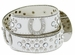 Deal of Today 50125 Western Cowgirl Bling Horseshoe Rhinestone Leather Belt - White1