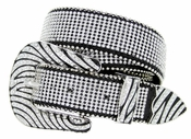 "50138 Western Bling Mesh Rhinestone Leather Belt 1-1/2"" (38mm)"
