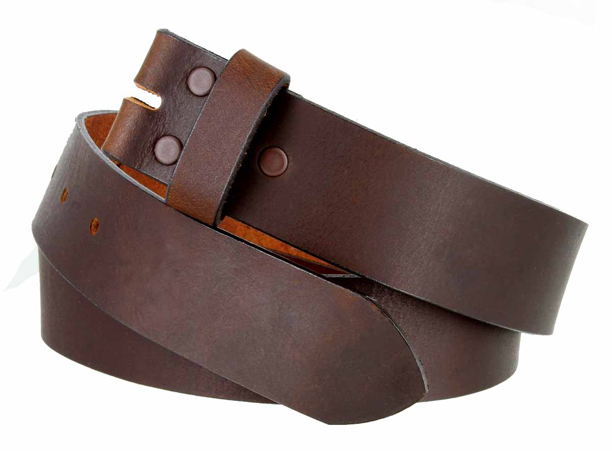 5138 Made in USA One Piece Full Leather Belt Strap 1-1/2