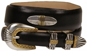 5544 Italian Leather Concho Belt-Smooth Brown $39.50