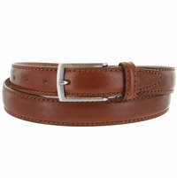 "5549/30 Men's Italian Leather Dress Casual Belt 1-1/8"" Wide Made in Italy - Marrone (Brown)"