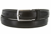 "5549/30 Men's Italian Leather Dress Casual Belt 1-1/8"" Wide Made in Italy - Nero (Black)"