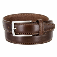 "5549/30 Men's Italian Leather Dress Casual Belt 1-1/8"" Wide Made in Italy - T. Moro (Dark Brown)"