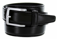 5549 Men's Italian Leather Dress Casual Belt Made in Italy - Nero (Black)
