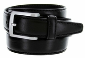 "5549/35 Men's Italian Leather Dress Casual Belt 1-3/8"" Wide Made in Italy - Nero (Black)"