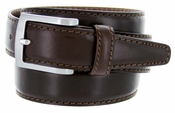 5549 Men's Italian Leather Dress Casual Belt Made in Italy - T.Moro (Dark Brown)