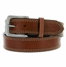 "5591500 G Bar D Men's Western Leather Belt 1-1/2"" - Brown"