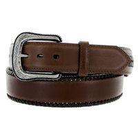 "5712500 G Bar D Men's Western Leather Conchos Belt 1-1/2"" - Dark Brown"