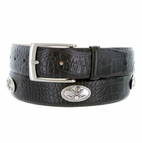 "5955 Italian Calfskin Leather  Golf Belt 1 3/8"" Wide"