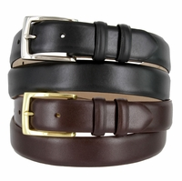 "6165 Men's Italian Calfskin Leather Dress Belt 1-1/8"" Wide"