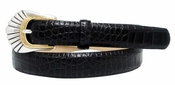 "6256 Italian Leather Designer Dress Belt 1"" Wide"